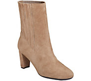 Aerosoles Mid Calf Leather Boots - Fifth Ave - A360932