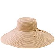 San Diego Hat Co. Ribbon Braid Extra-Large Floppy Hat - A413832