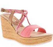 Sbicca Fabric Wedge Sandals - Alisanna - A414232