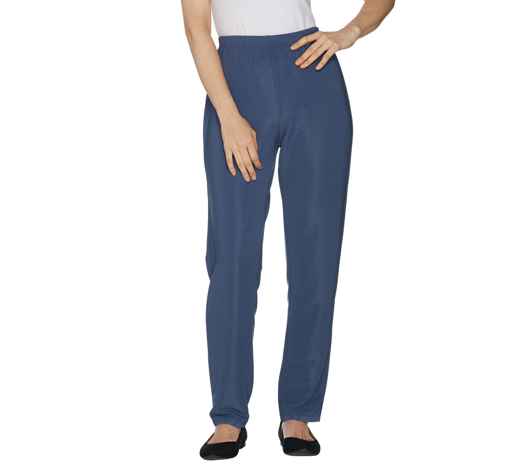 2ba2213b Susan Graver Essentials Lustra Knit Regular Skinny Pants — QVC.com