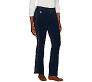 Quacker Factory Regular DreamJeannes Copper Crush Boot Cut Pant - A267233