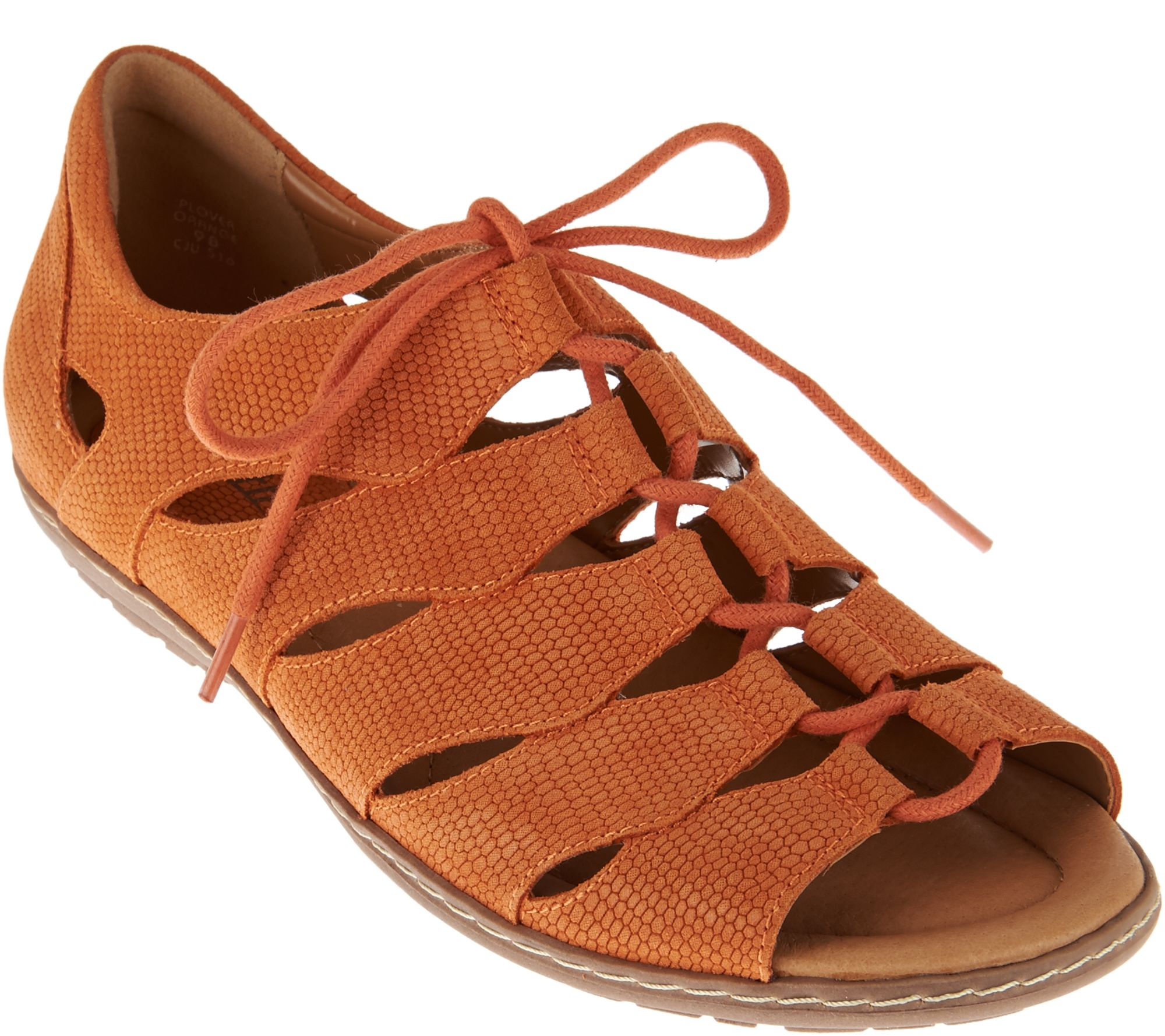 a814541ac80e Earth Suede Ghillie Lace-up Sandals w  Closed Heel - Plover - Page 1 —  QVC.com
