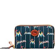 Dooney & Bourke MLB Nylon Marlins Zip Around Phone Wristlet - A281733