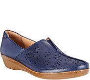 Clarks Leather Perforated Slip-ons - Everlay Dairyn - A287333