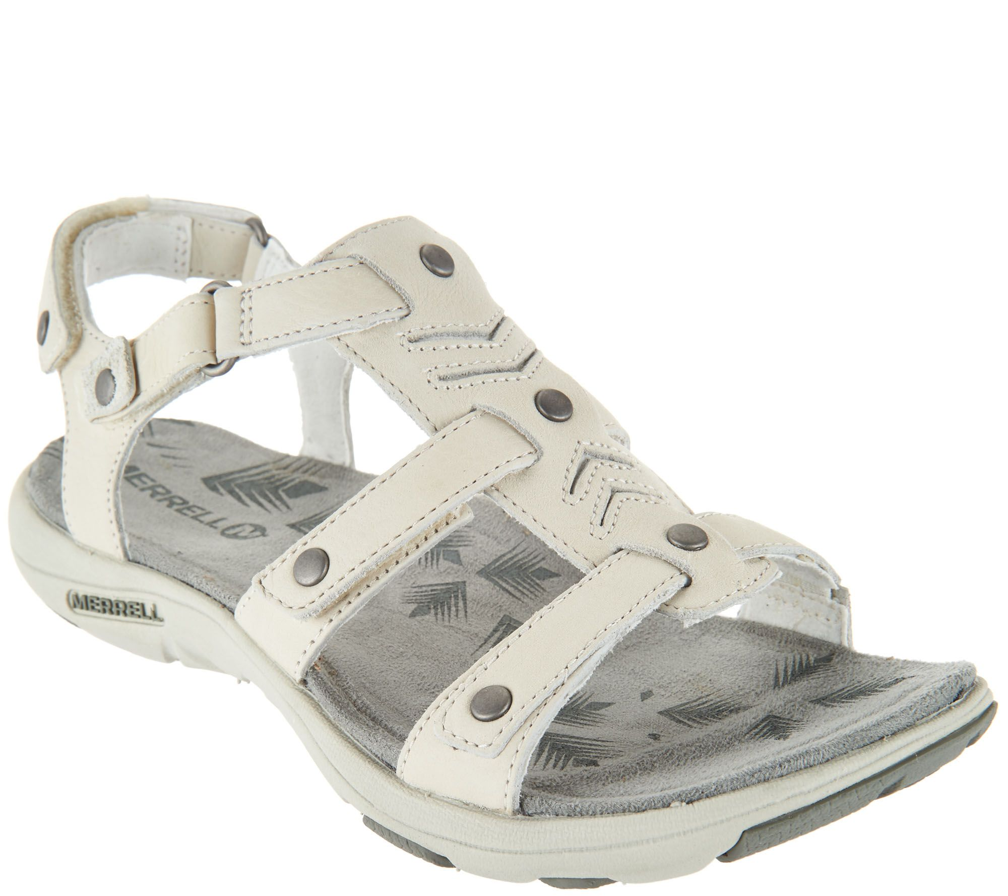 8696b5ecc9b Merrell Triple Strap Leather Sandals - Adhera Three Strap II - Page 1 —  QVC.com