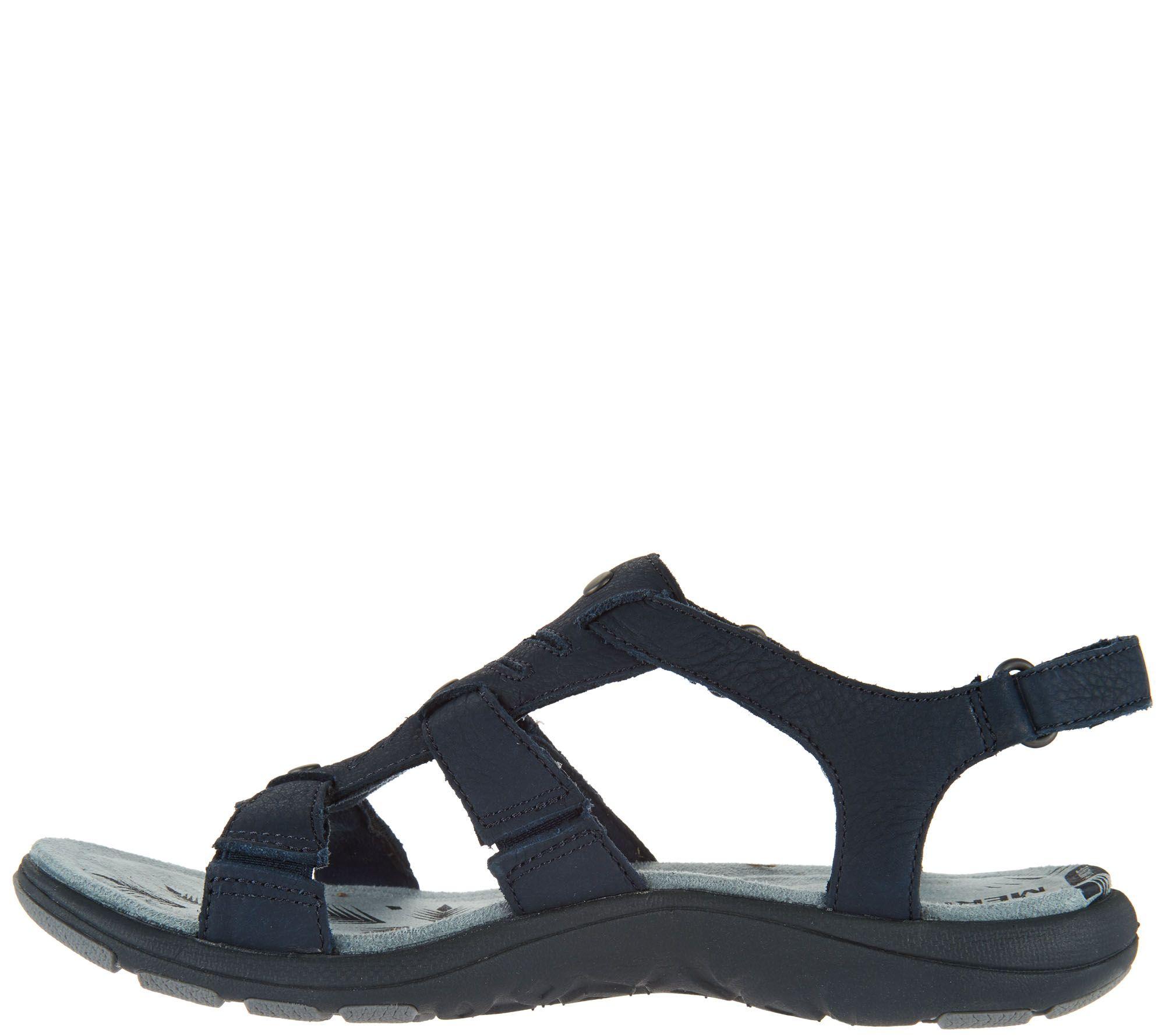 0b68455f6e4e Merrell Triple Strap Leather Sandals - Adhera Three Strap II - Page 1 —  QVC.com
