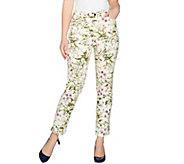 C. Wonder Petite Botanical Floral Print Ankle Jeans - A288833