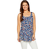 Studio by Denim & Co. Printed Scoop Neck Peplum Tank - A291633
