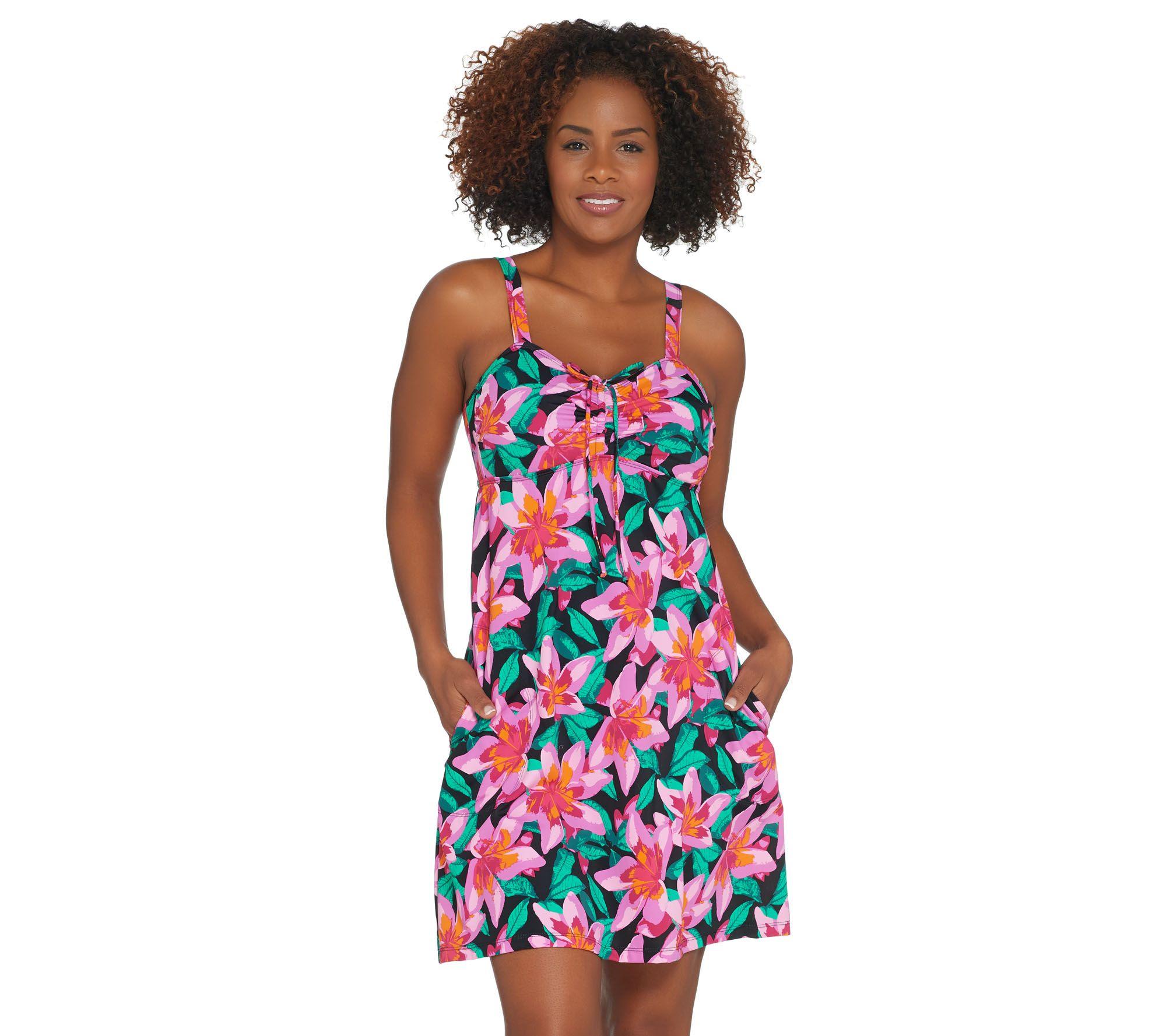 5c1845724ad5e Denim   Co. Beach A-Line Swim Dress - Page 1 — QVC.com