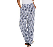 Denim & Co. Beach Tall Pull-On Wide Leg Knit Pants - A305633