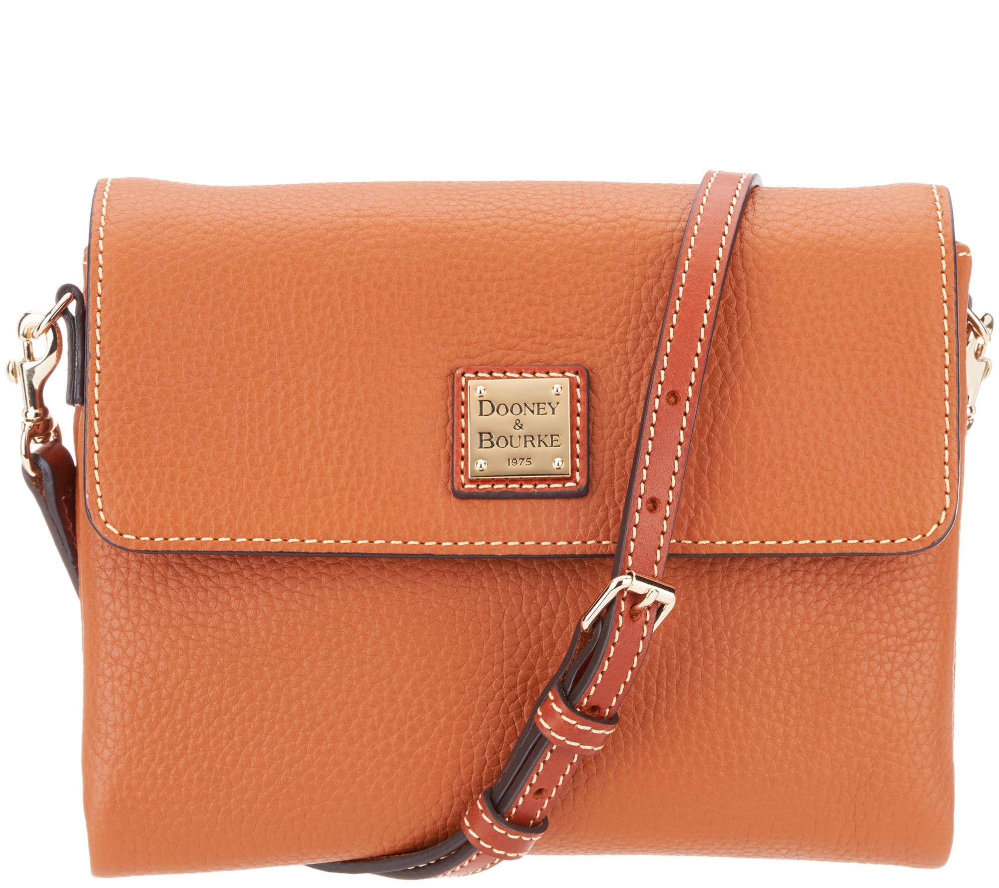 Dooney   Bourke Pebble Leather Crossbody Handbag - Hunter - Page 1 — QVC.com 4c6ef10e6fc5d