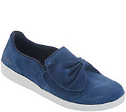 Skechers Suede Bow Slip On Shoes - Madison Ave - A309533