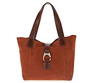 Dooney & Bourke Suede Leather Derby East/West Shopper Handbag - A310533
