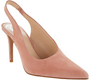 Vince Camuto Suede Pointy Toe Slingback Pumps -Ampereta - A310633