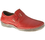Spring Step Coed Leather Slip-ons - A329833