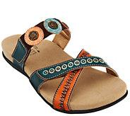 Spring Step LArtiste Leather Slide Sandals - Glendora - A336233