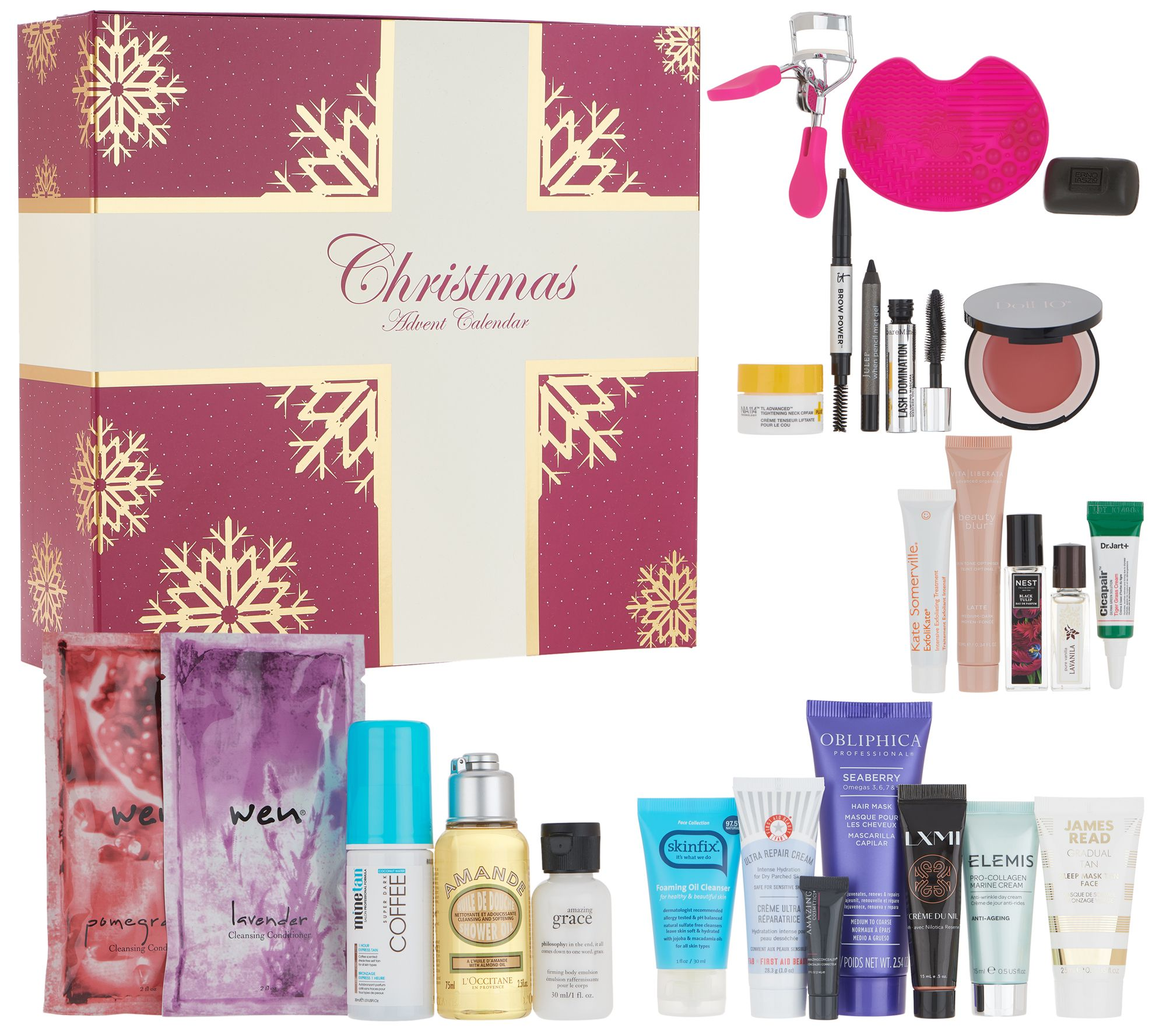 qvc beauty christmas advent calendar 24-piece collection - page 1