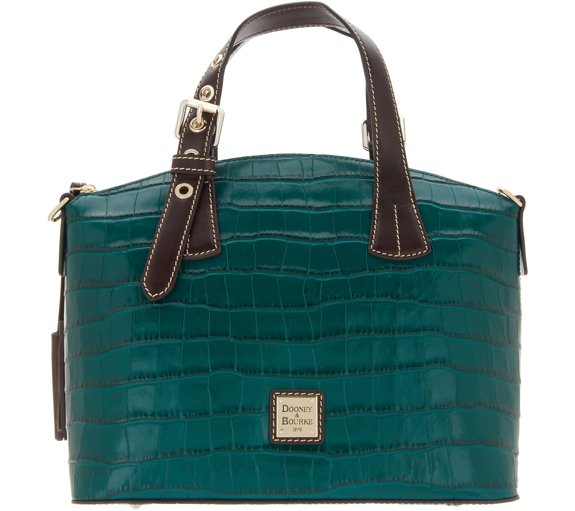 282d12169c4daf Dooney & Bourke Croco Embossed Leather Trina Satchel - Page 1 — QVC.com