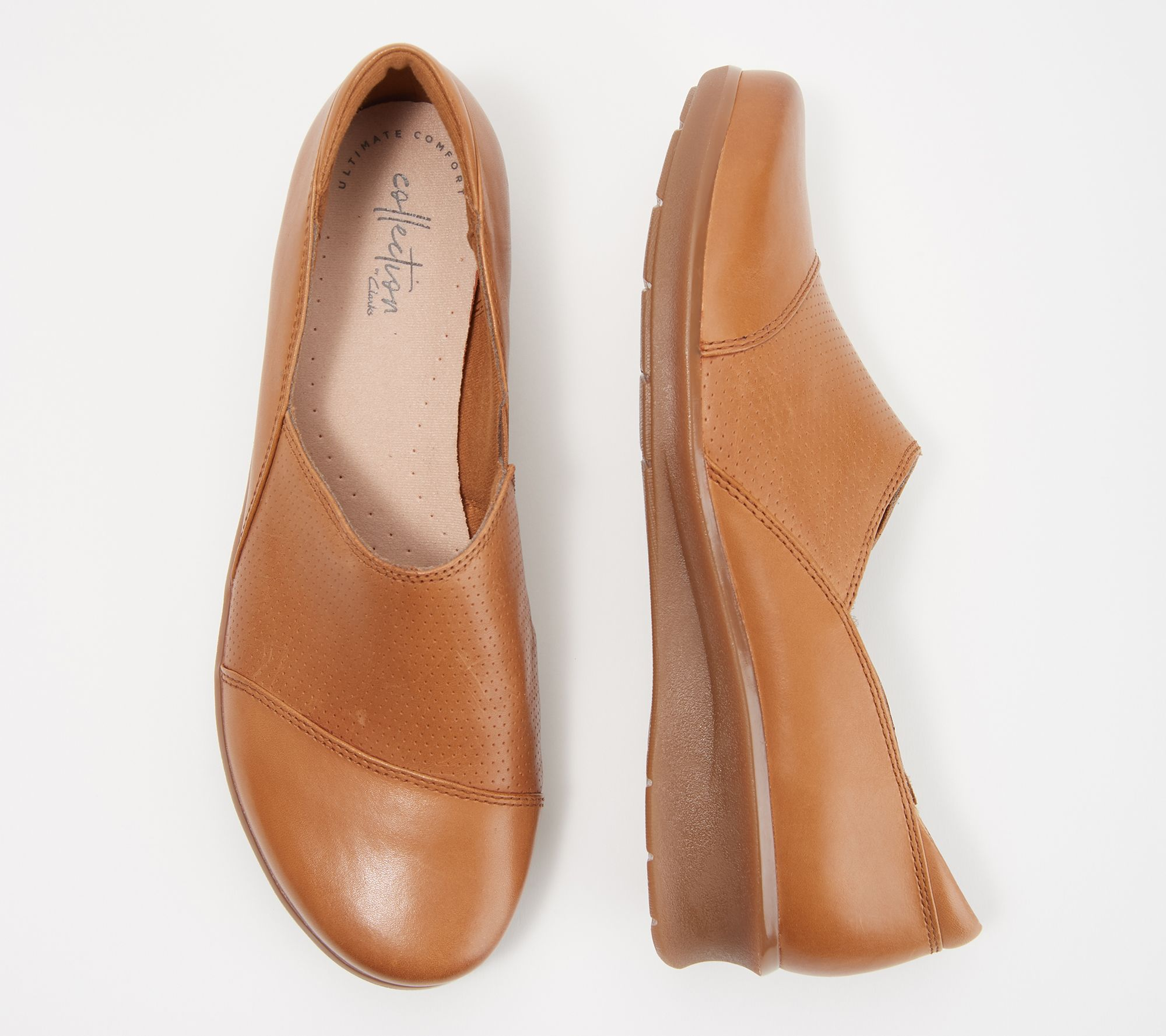 90f93c695037 Clarks Collection Leather Slip-On Shoes- Hope Porter - Page 1 — QVC.com