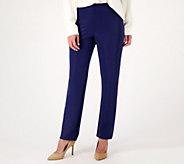 Susan Graver Essentials Lustra Knit Petite Skinny Pants - A7933