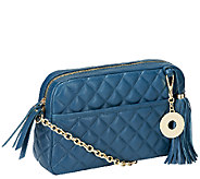 Isaac Mizrahi Live! Bridgehampton Lamb Leather Quilted Handbag - A234734