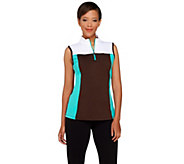 Denim & Co. Active/Golf Color-Block Sleeveless Top - A265634