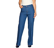 C. Wonder Petite Full Length Wide Leg Jeans - A279734