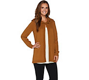 Susan Graver Cotton Acrylic Sweater Cardigan - A281334
