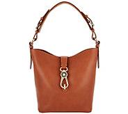 Dooney & Bourke Logo Lock Toscana Leather Shoulder Bag- Lily - A283934