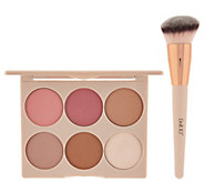 Doll 10 Cheek to Chic Blush & Contour Palette w/ Sculpting Brush - A284234