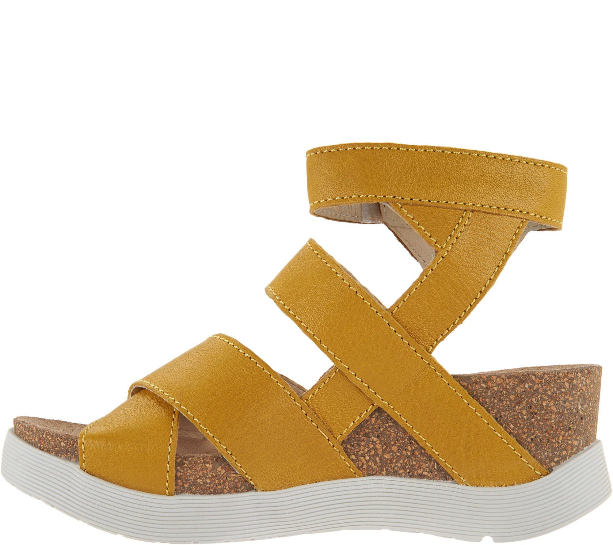 4de21a02ebd1 FLY London Leather Strappy Sandals - Wege - Page 1 — QVC.com