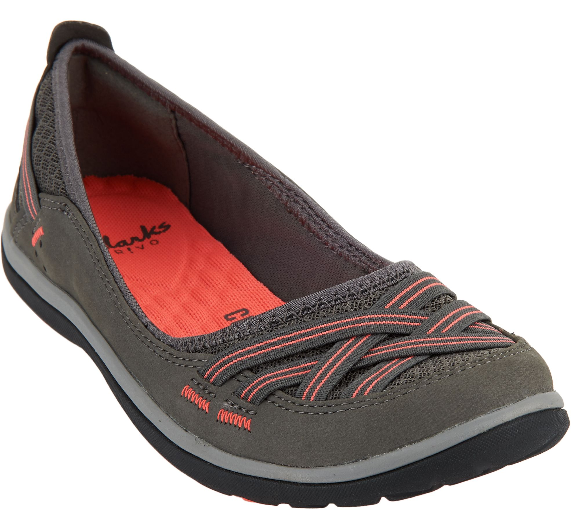 980aa495158 Clarks Outdoor Slip-on Flats - Aria Pump - Page 1 — QVC.com