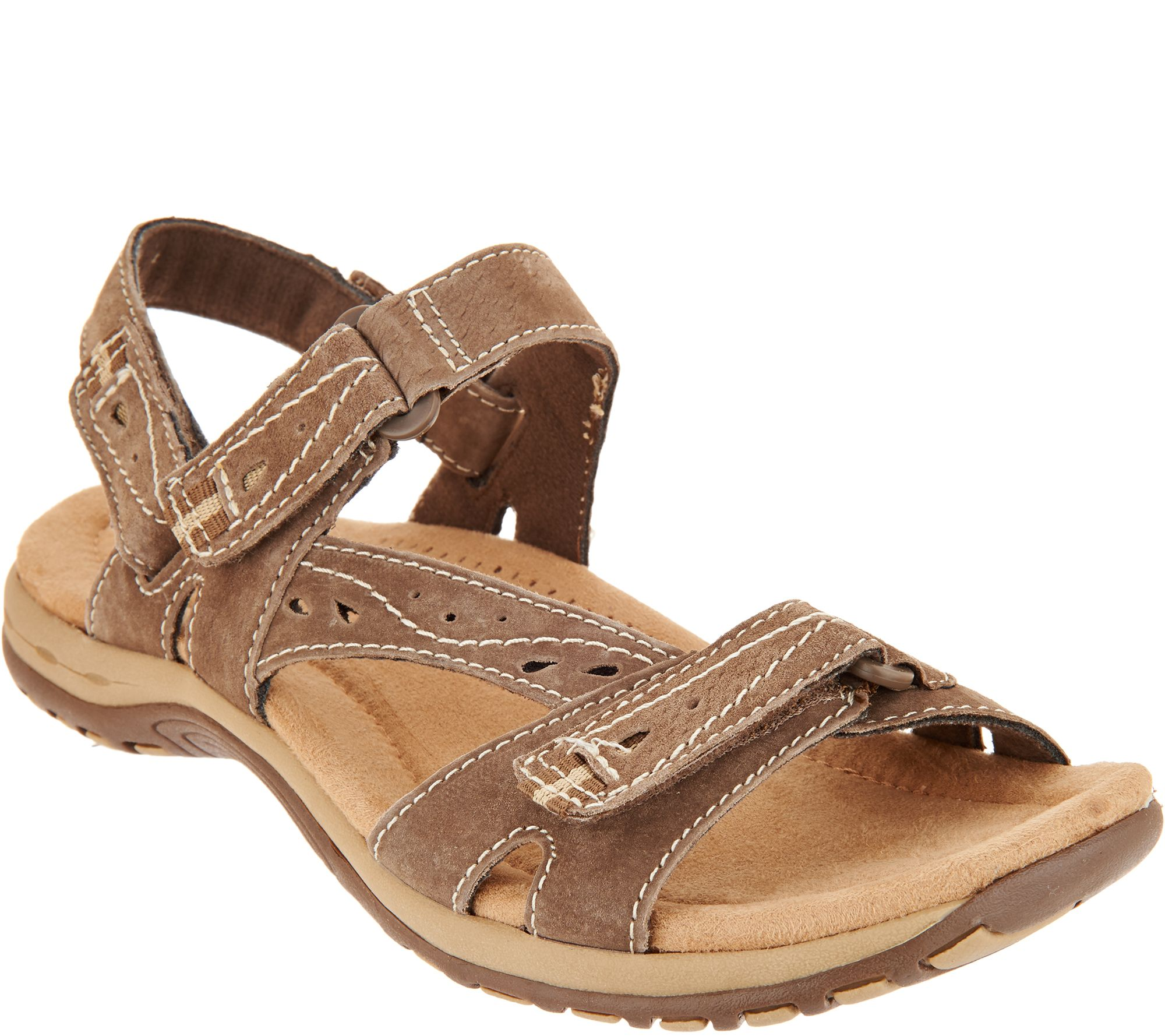 129cee00bb0b Earth Origins Suede Sport Sandals - Sophie — QVC.com