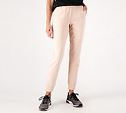 Denim & Co. Active Petite Pull-On Knit Jogger Pants - A300834
