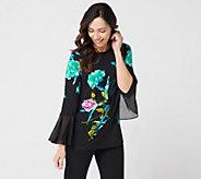 Susan Graver Printed Liquid Knit Top - A302634