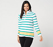 Denim & Co. Active Printed French Terry Pullover - A303234