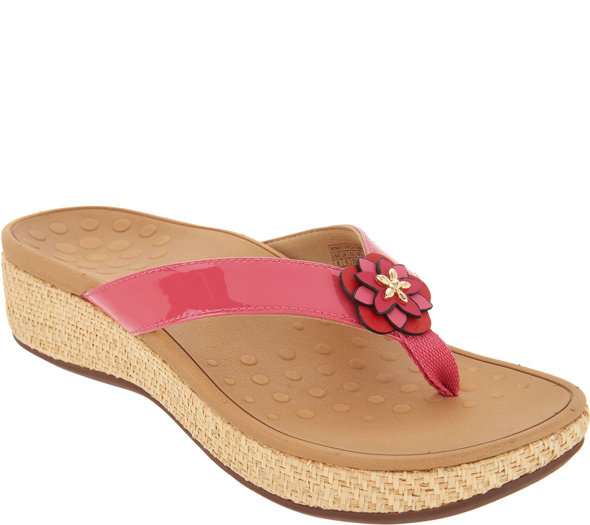 6a629616c249 Vionic Embellished Leather Thong Sandals - Mimi - Page 1 — QVC.com