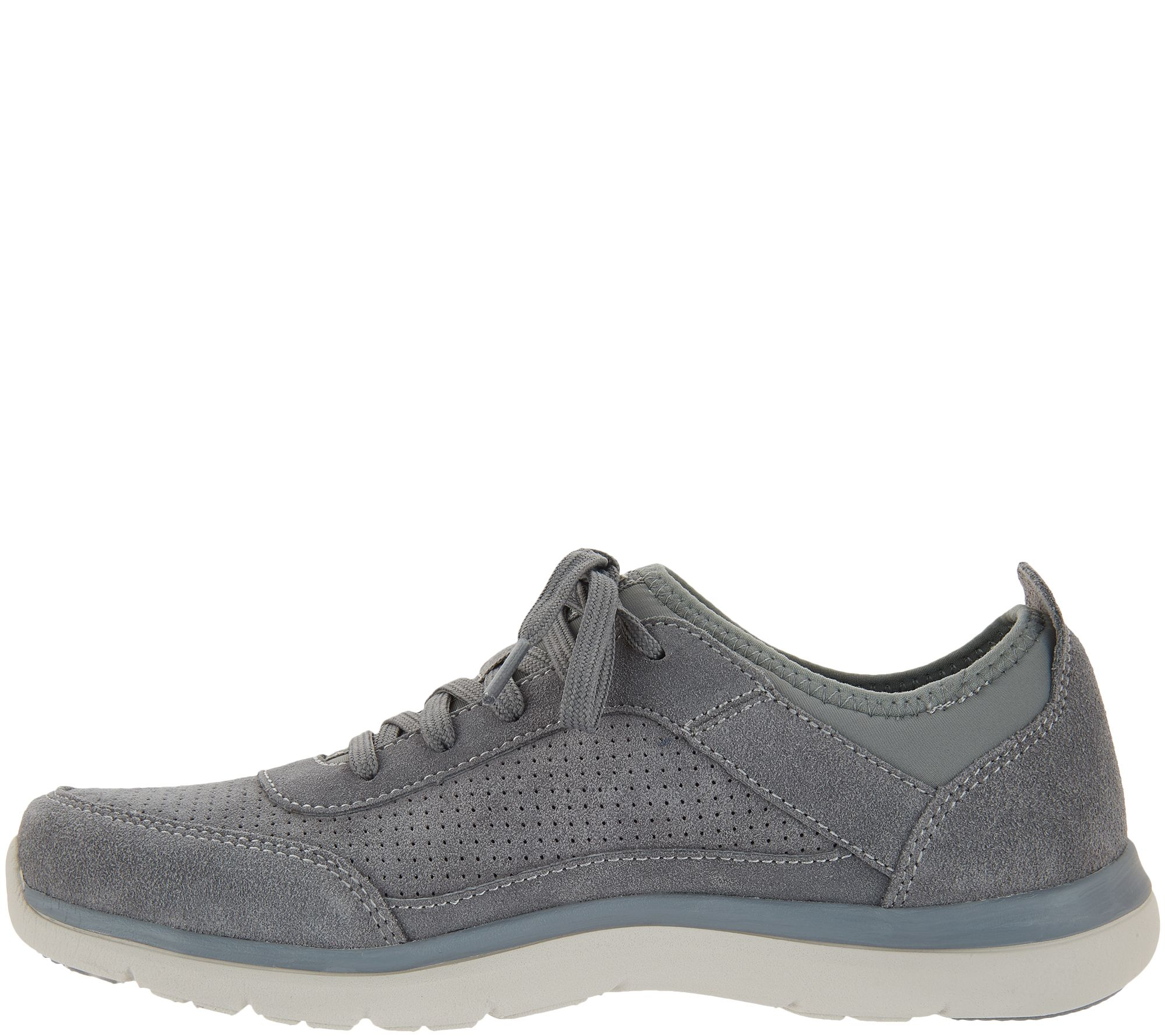 219b367208a5d Ryka Perforated Suede Lace-Up Shoes - Elle - Page 1 — QVC.com