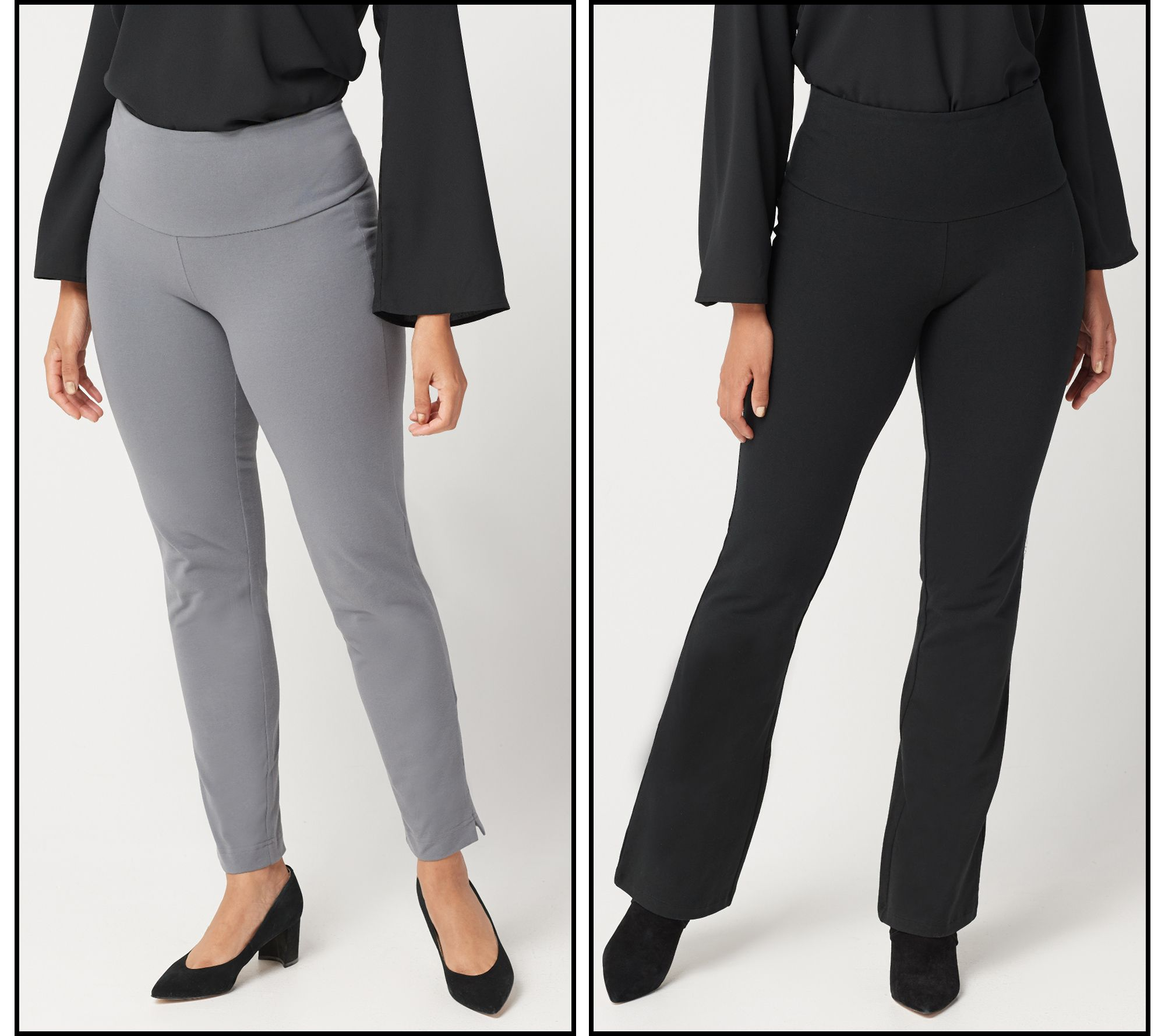 Women With Control Regular Tummy Control Mini Bell And Ankle Pants