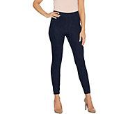 H by Halston Petite Knit Denim Ankle Pants with Forward Seam - A346934