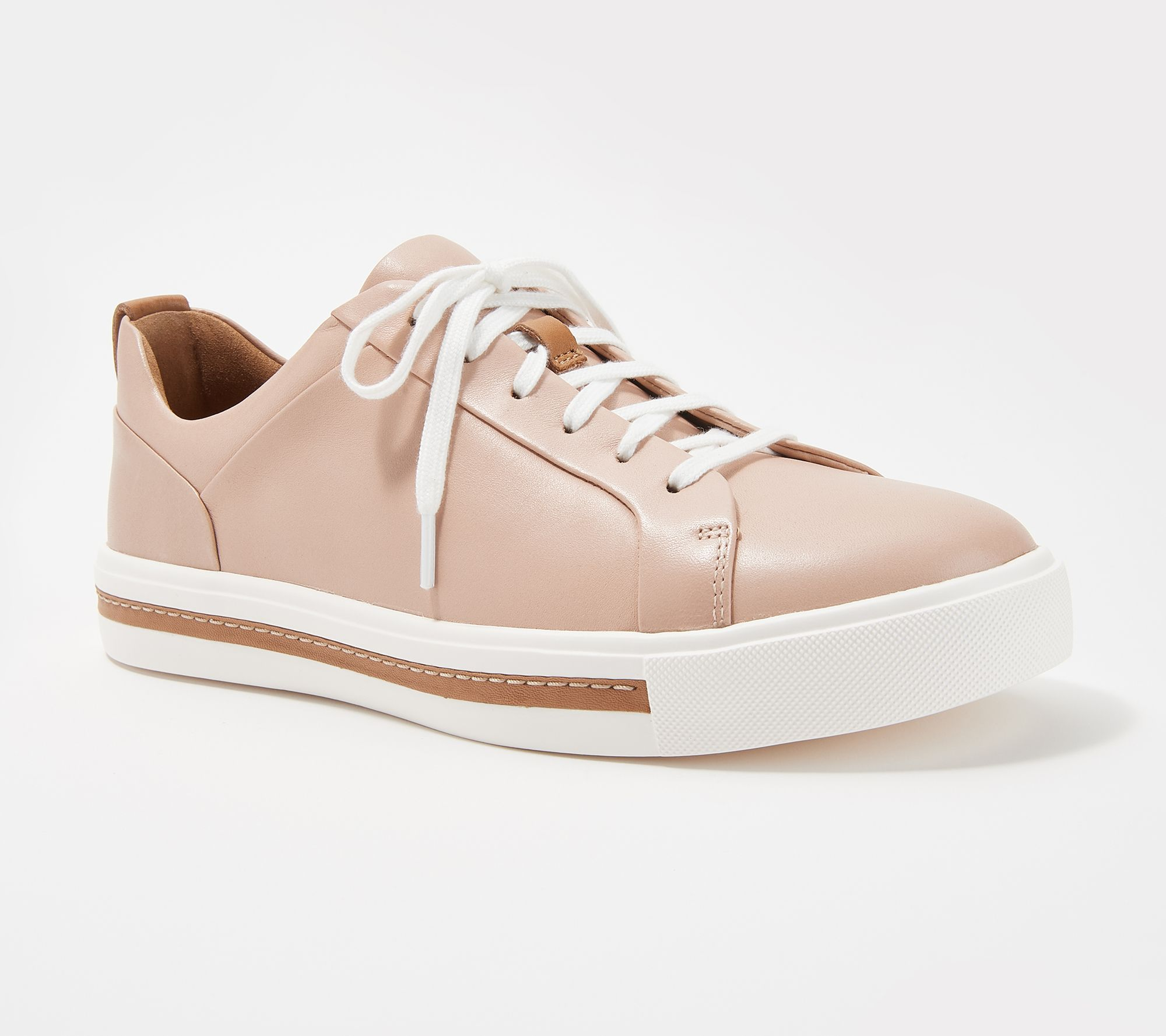 49069b4eec8c Clarks Unstructured Leather Casual Sneakers - Un Maui Lace - Page 1 —  QVC.com