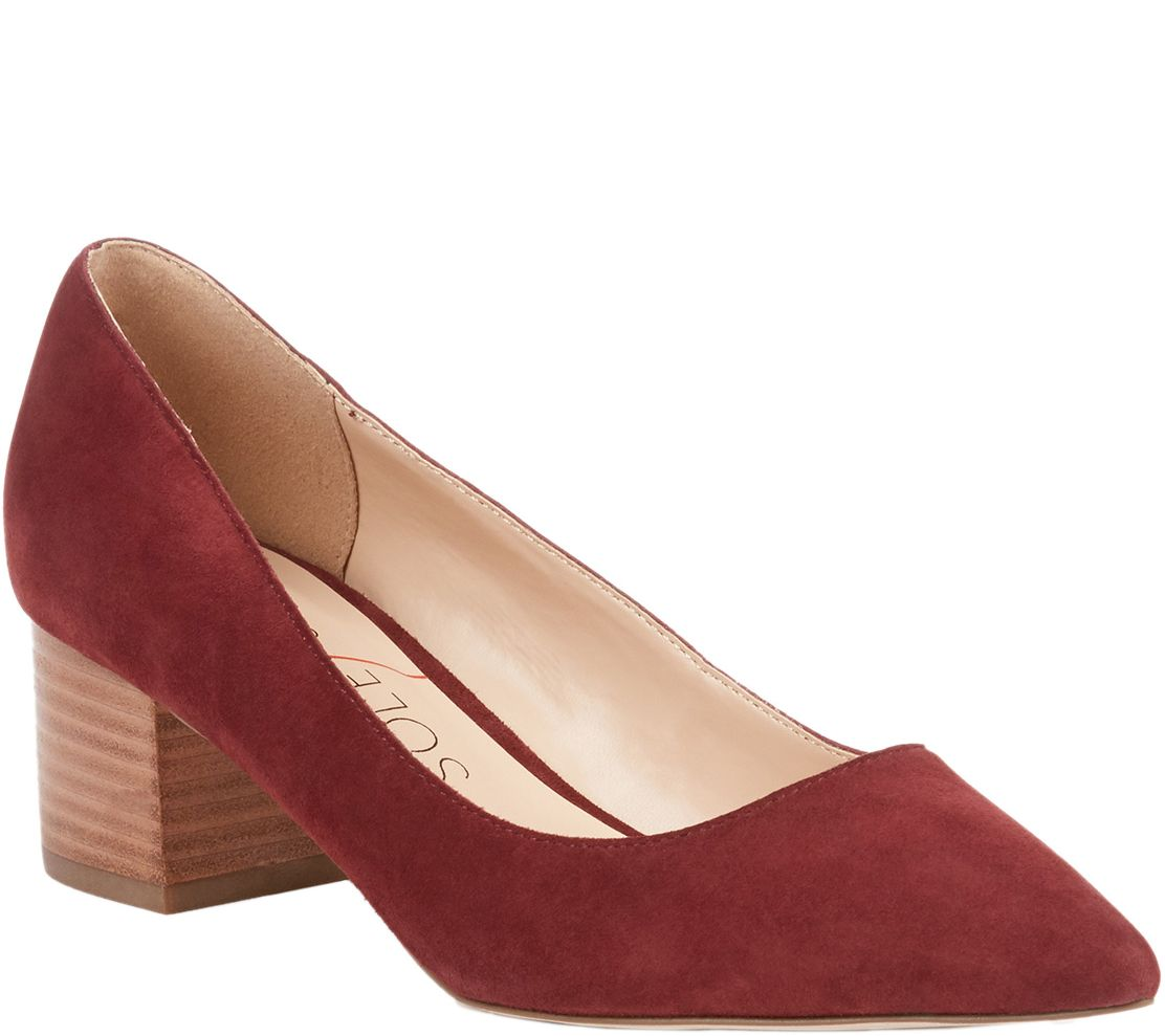 565b7a98469e Sole Society Block Heel Pumps - Andorra — QVC.com
