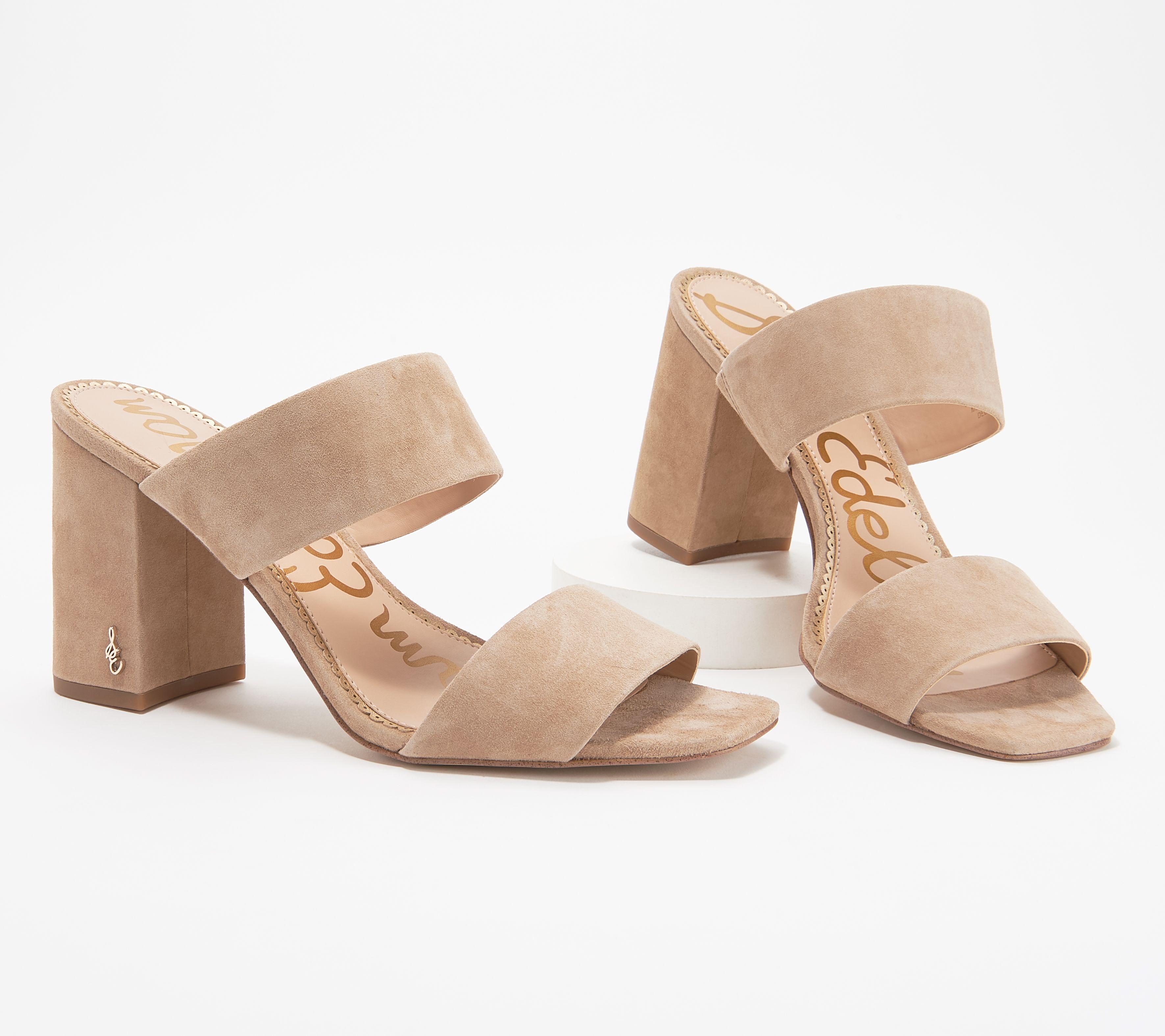 eaf60caa731e Sam Edelman Double Strap Block-Heeled Sandals - Delaney — QVC.com