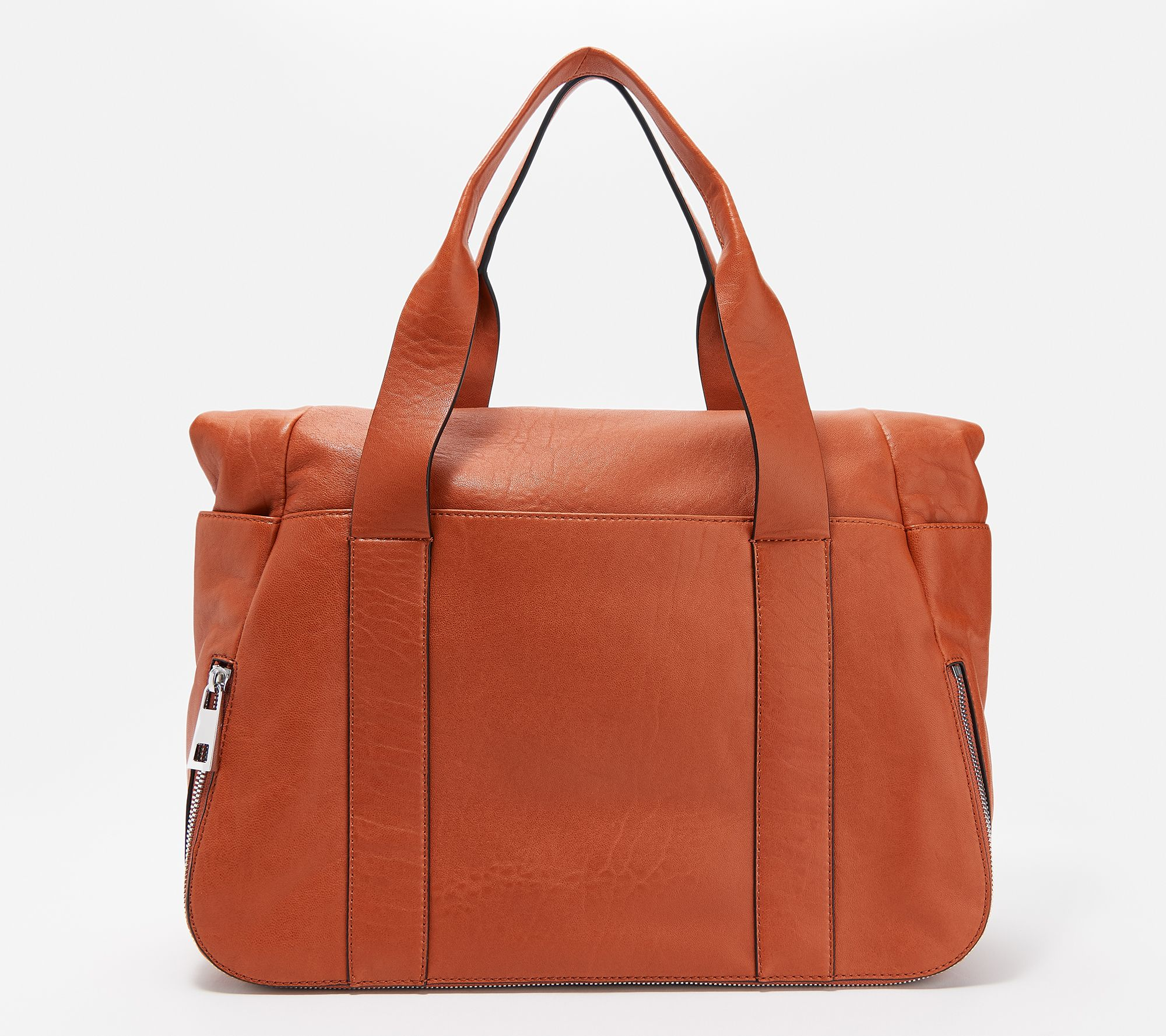 Vince Camuto Leather Tote With Zipper Detail Sonny Qvc
