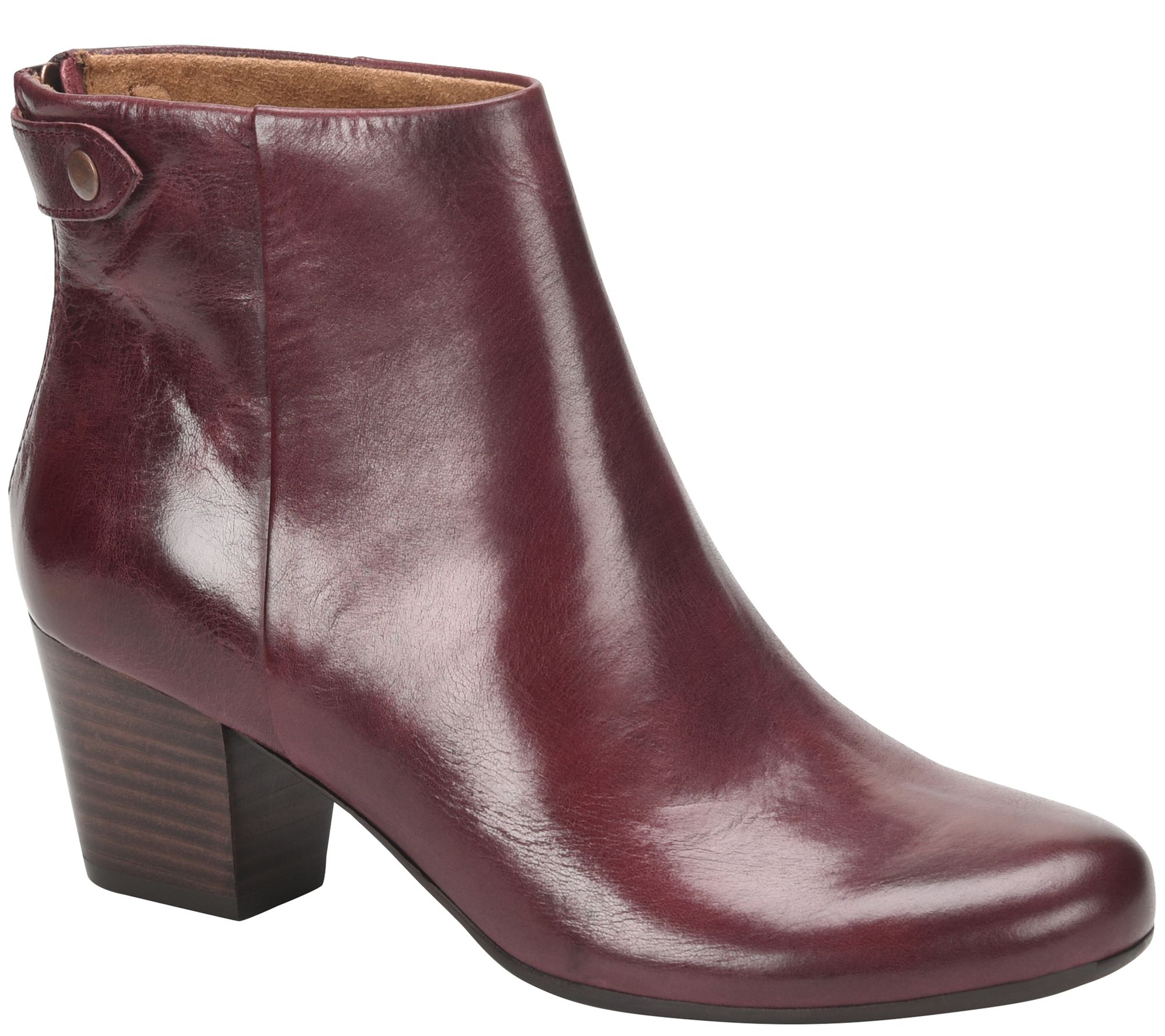 bb427fc5b Comfortiva Leather Ankle Booties - Alandra - Page 1 — QVC.com