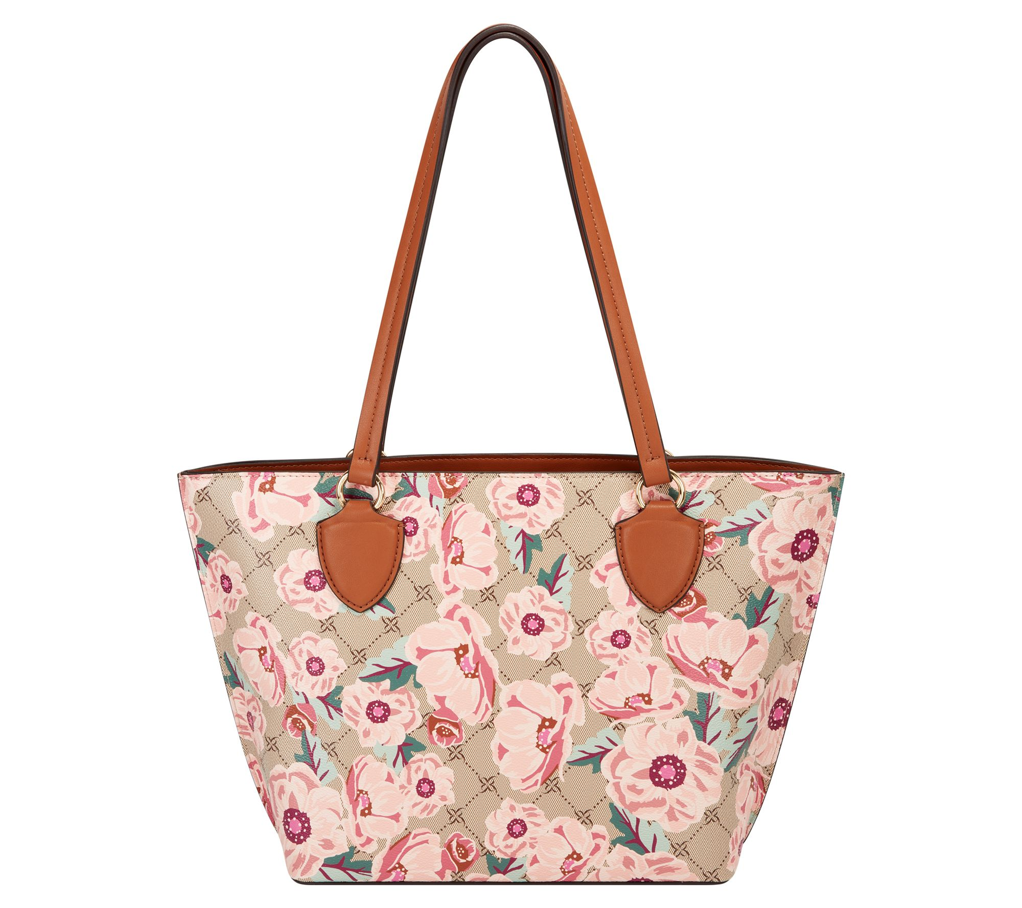 Mr.Weng Household Beautiful Flowers Lady Handbag Tote Bag Zipper Shoulder Bag