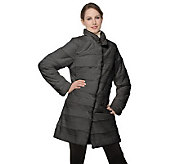 Dennis Basso Stand Collar Faux Fur Coat with Front Pockets - A220235
