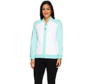 Susan Graver Weekend French Terry Colorblock Bomber Jacket - A263835