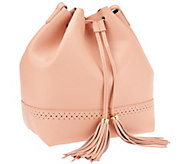 Isaac Mizrahi Live! Bridgehampton Leather Bucket Bag - A264635