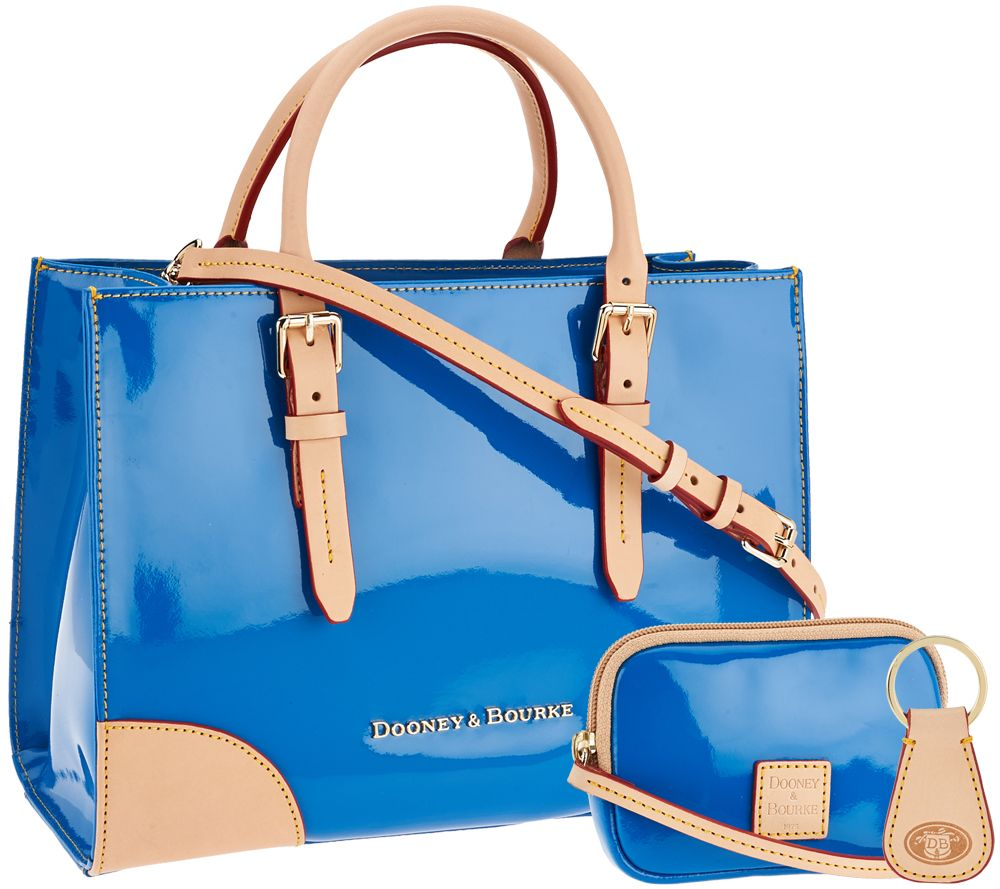 fae7ef5fe7 Dooney   Bourke Patent Leather Satchel with Accessories - Page 1 — QVC.com